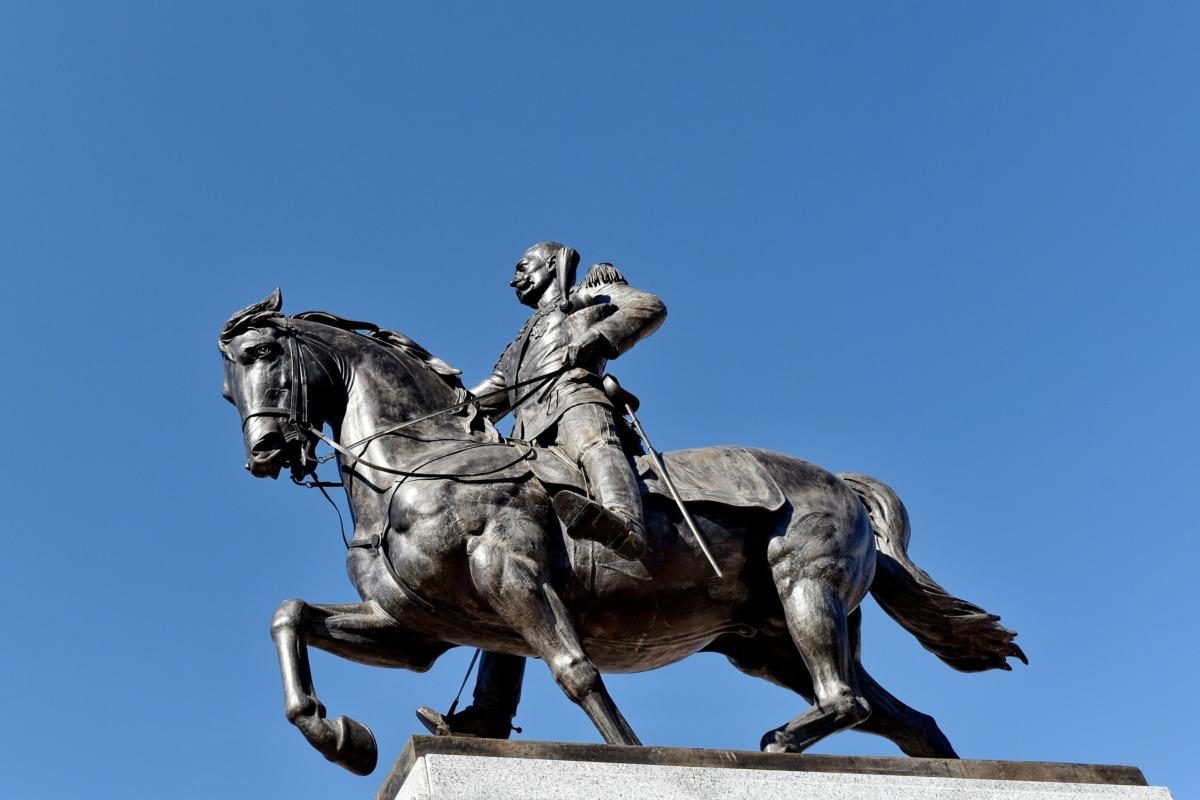 Bronzo, cavallo, piedistallo, Statua, scultura, Monumento, arte, architettura