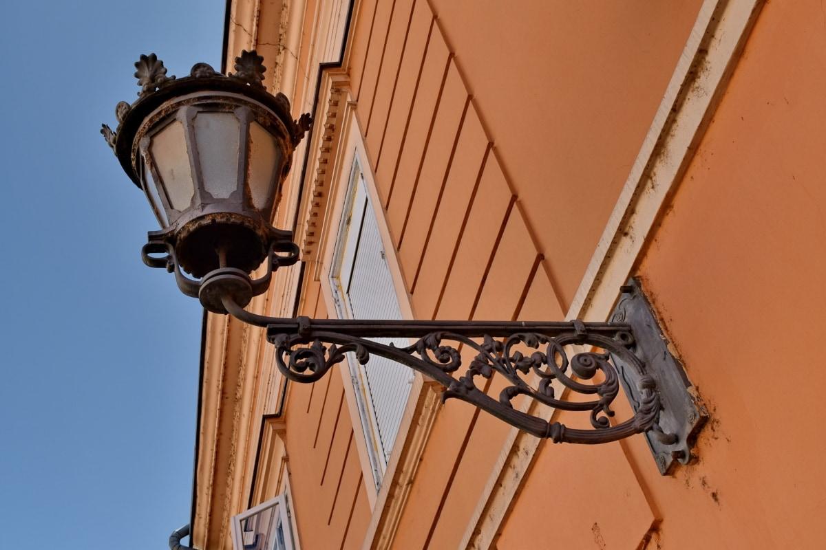 barok, lijevano željezo, uređaj, arhitektura, stari, Lampa, urbano, željezo