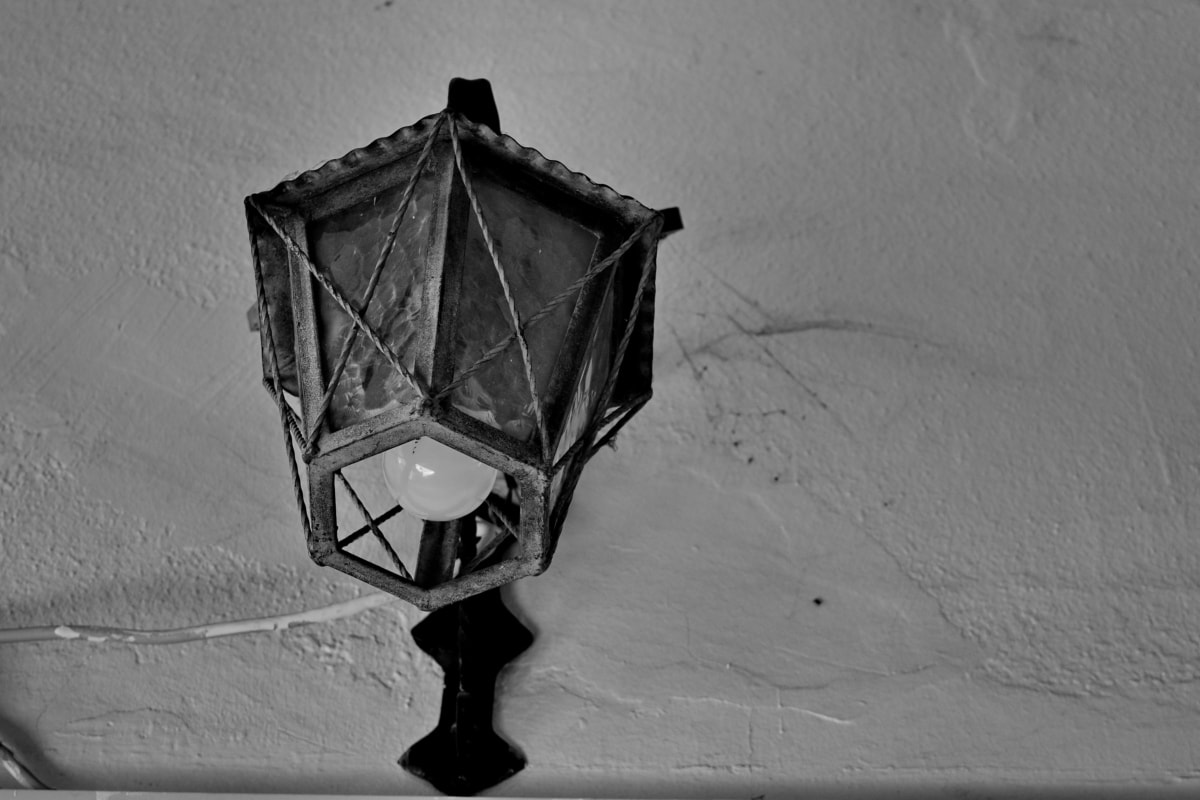 antiikin, sähkön, lamppu, Lanka, varjossa, lamppu, valo, vuosikerta