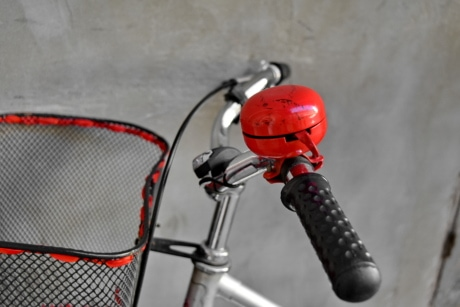 bell, bicycle, handle, nostalgia, red, steering wheel, leisure, recreation