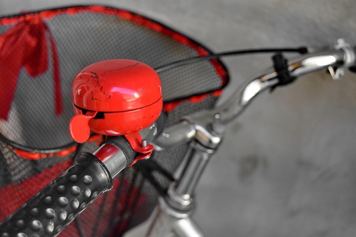 bel, Nostalgia, merah, baja, roda kemudi, Sepeda, kendaraan, peralatan