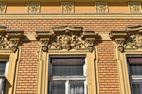 baroque, facade, ornament, architecture, building, window, house, old