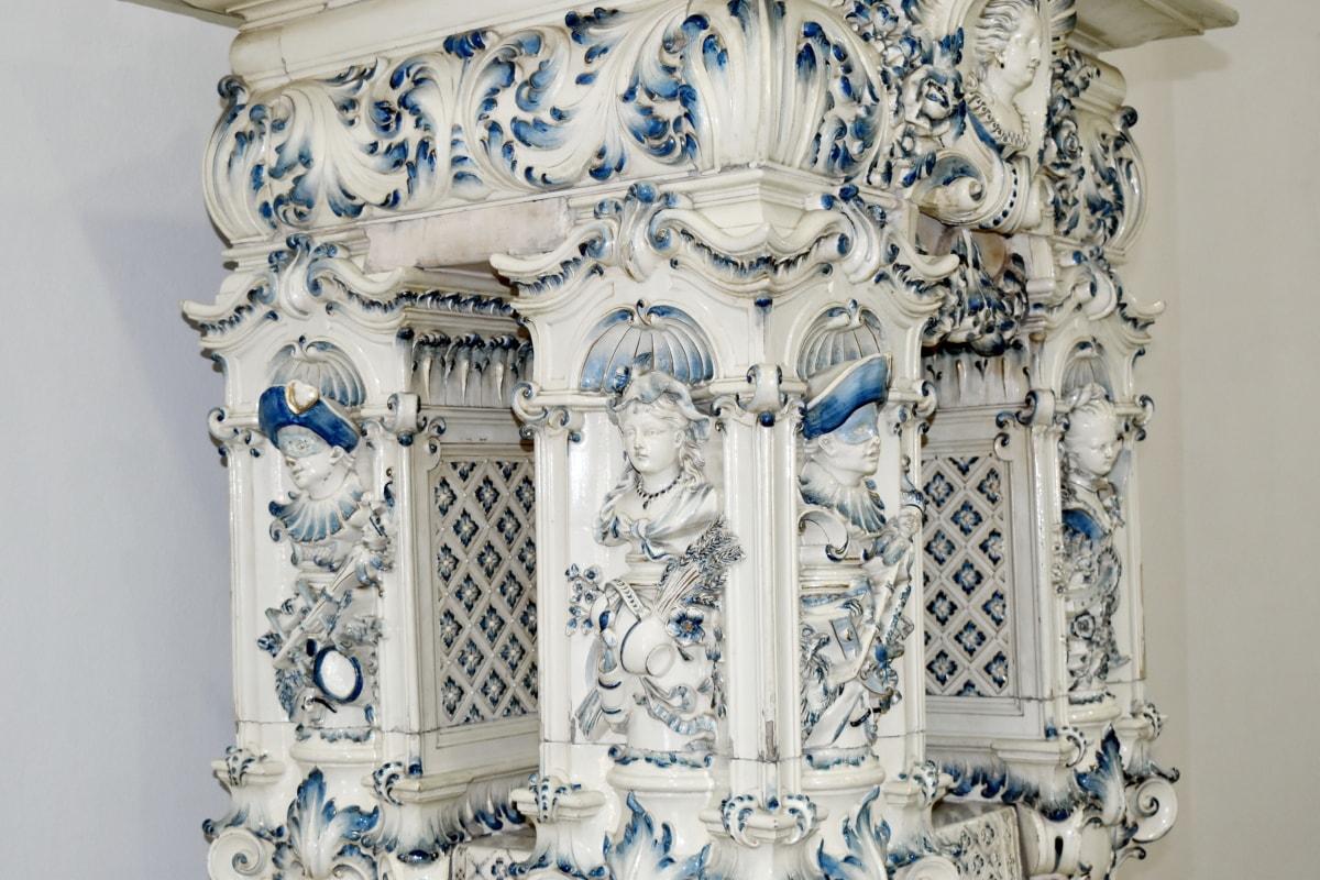 dekorasjon, arkitektur, kunst, stil, antikk, gamle, skulptur, design