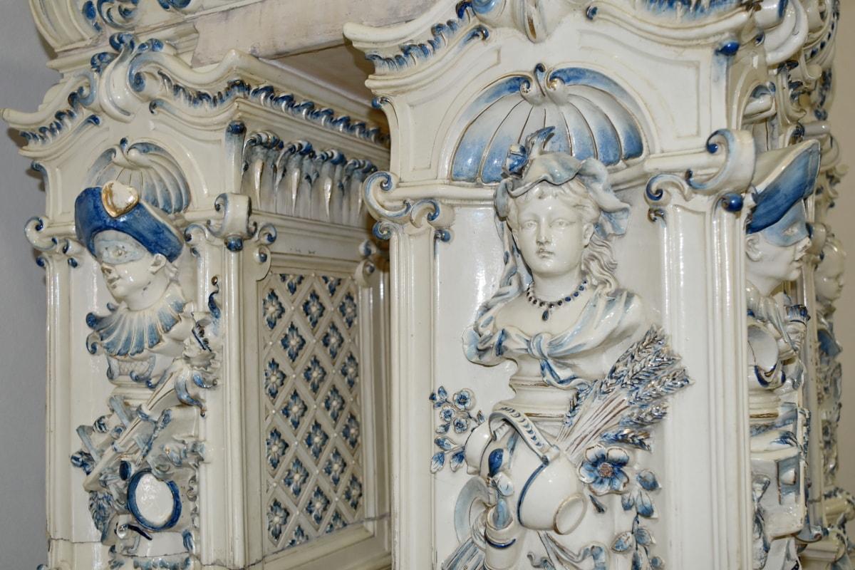 skulptur, kunst, dekorasjon, religion, statuen, marmor, gamle, barokk