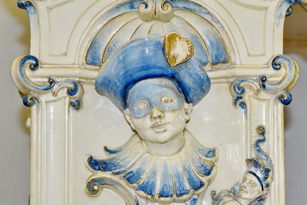 Барок, бюст, порцелан, статуя, религия, релеф, скулптура, декорация
