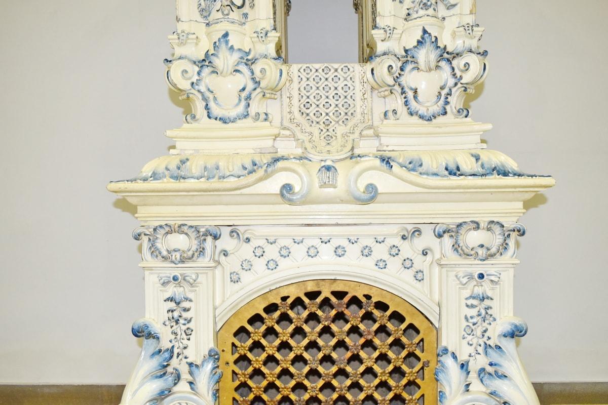 starožitnost, Starověk, Arabesque, barokní, Krb/Kamna, ornament, architektura, dekorace