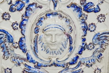 baroque, handmade, interior decoration, ornament, porcelain, portrait, art, abstract