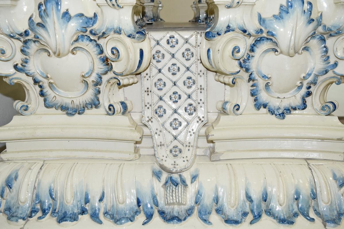 barokový, dekorácie, cisársky, objekt, ornament, porcelán, dizajn, umenie