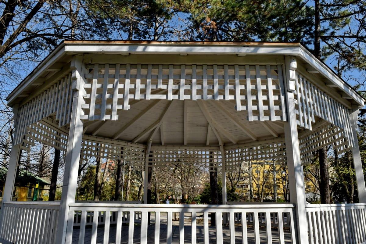 trädgård, verandan, balkong, arkitektur, Skapa, struktur, trä, exteriör