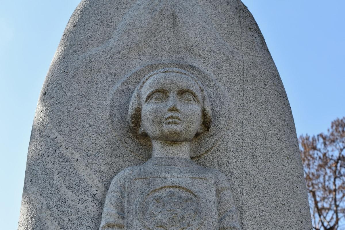 kamena, spomen, kip, groblje, skulptura, nadgrobni spomenik, religija, arhitektura