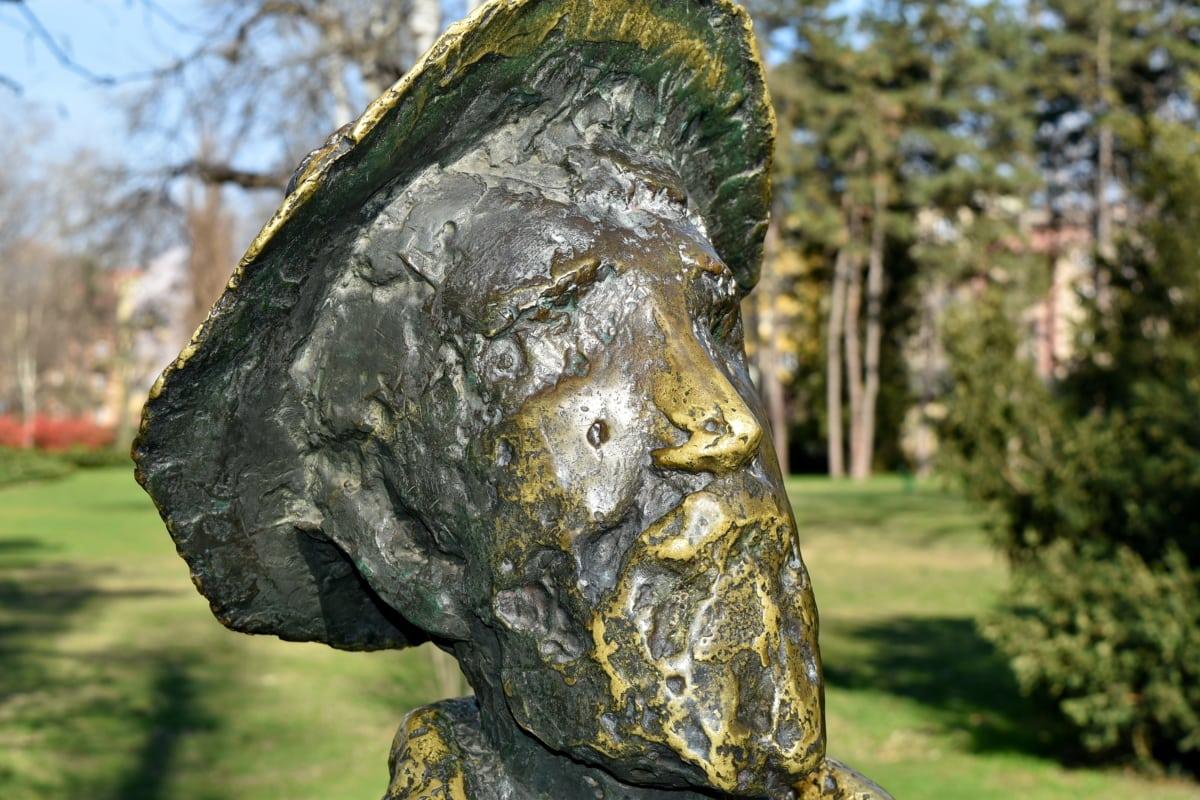mesing, bista, lice, vrt, šešir, portret, proljetno vrijeme, na otvorenom