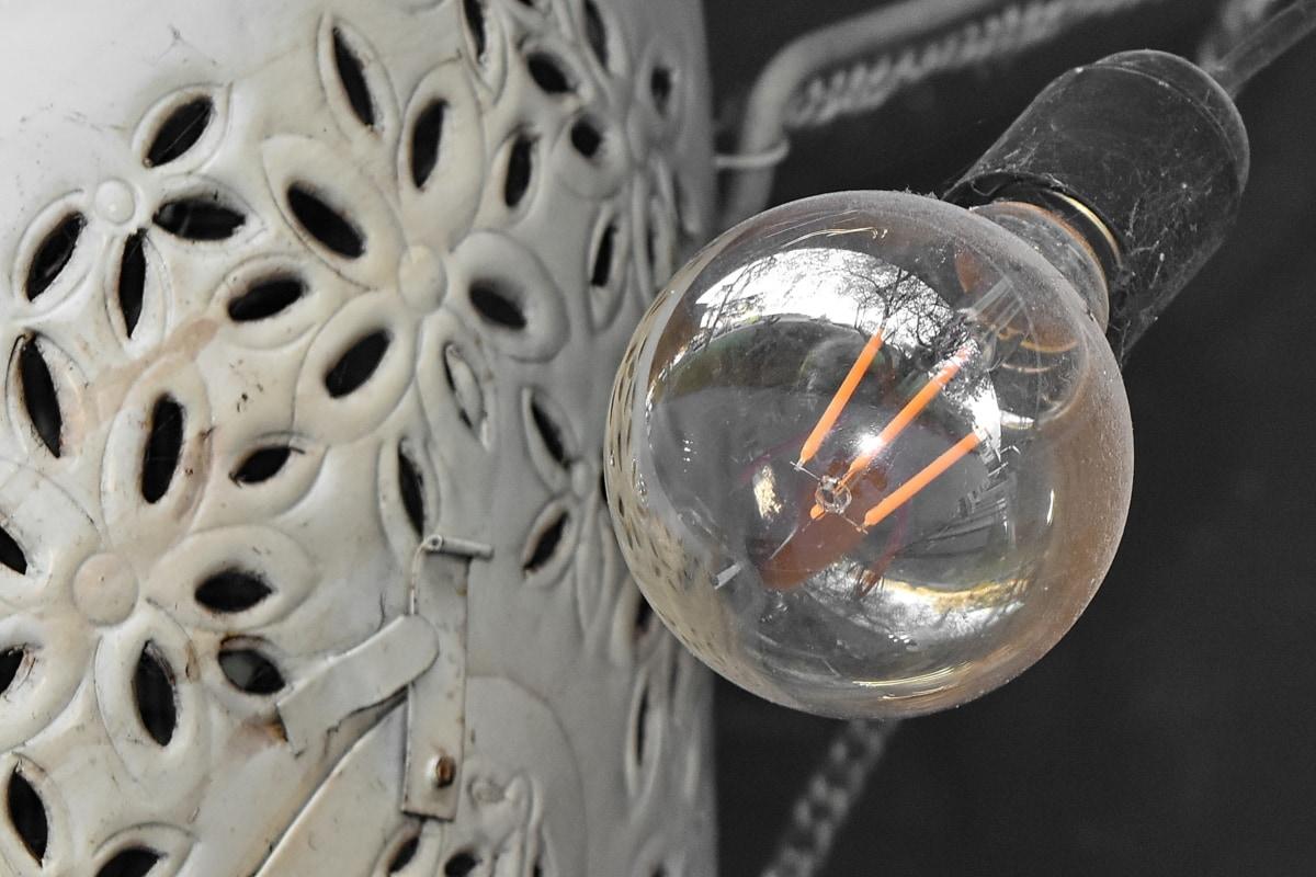 gloeilamp, Stilleven, transparante, oude, industrie, staal, koude, technologie