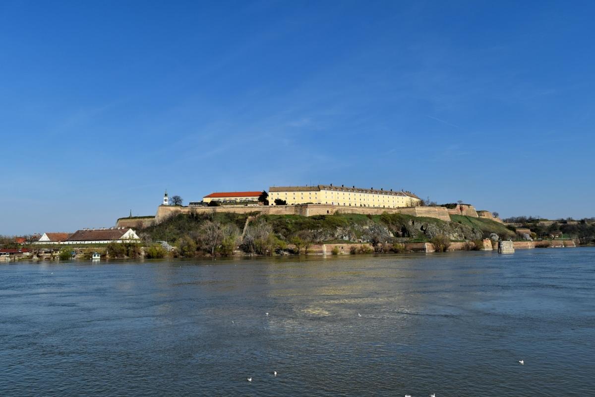 paysage urbain, point de repère, Serbie, Île, paysage, eau, architecture, bord de mer