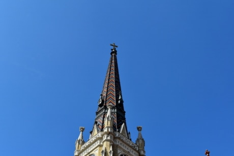 christian, christianity, church tower, fair weather, covering, building, tower, landmark