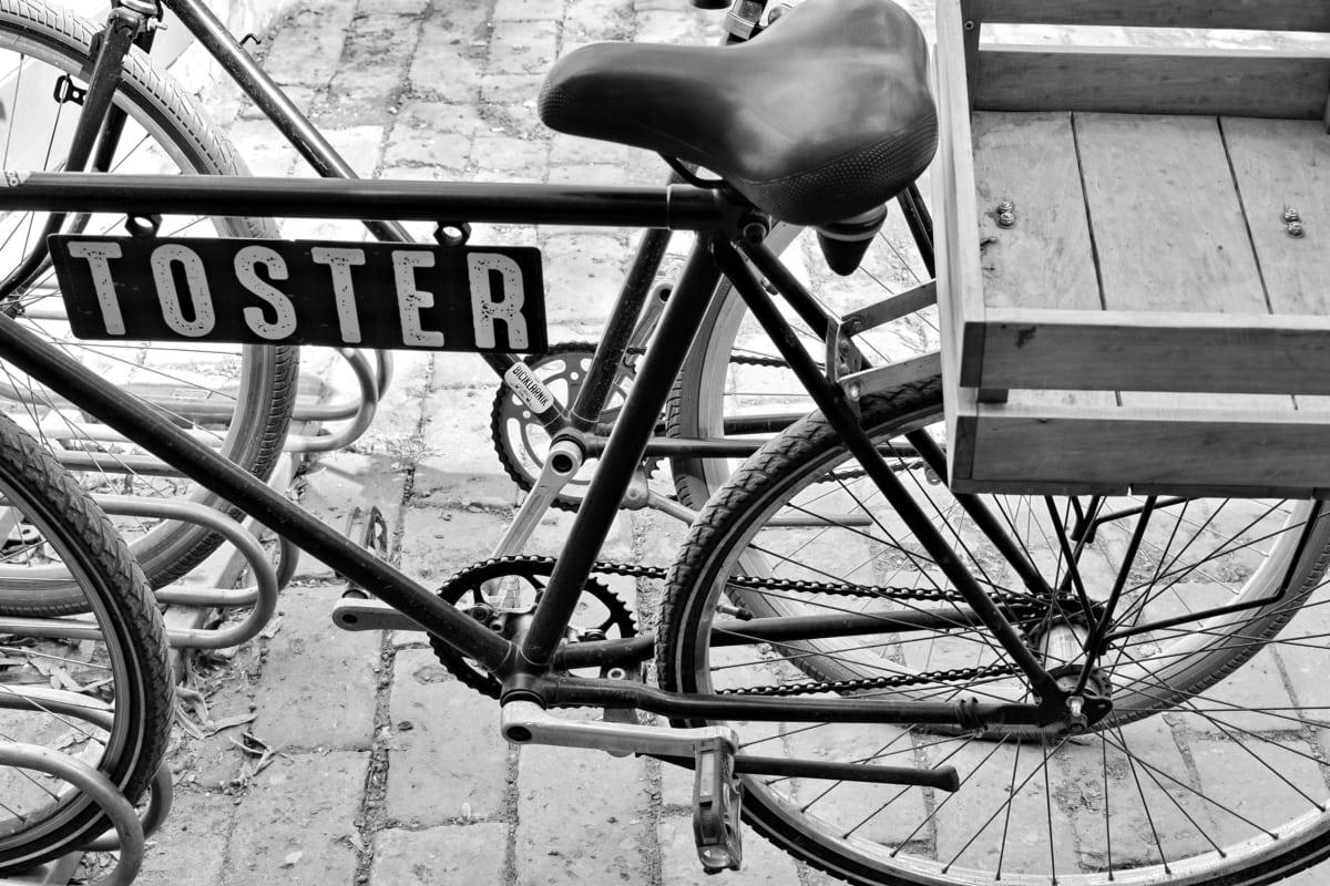 Колела, монохромен, носталгия, стар, натюрморт, колело, Байк, седалка
