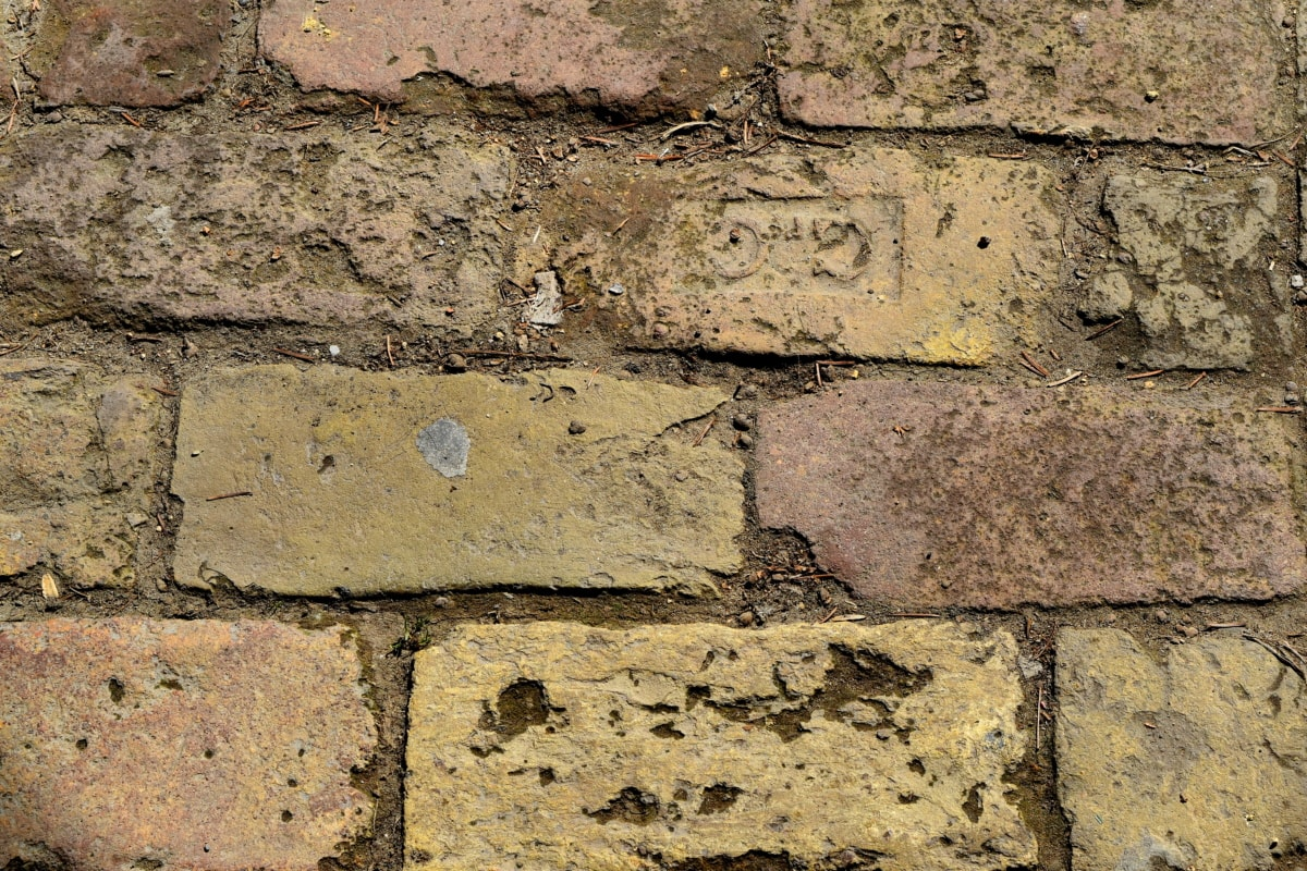 стар, куб, камък, архитектура, необработен, цимент, тухла, стена