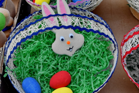 basket, bunny, colorful, decoration, easter, egg, traditional, color
