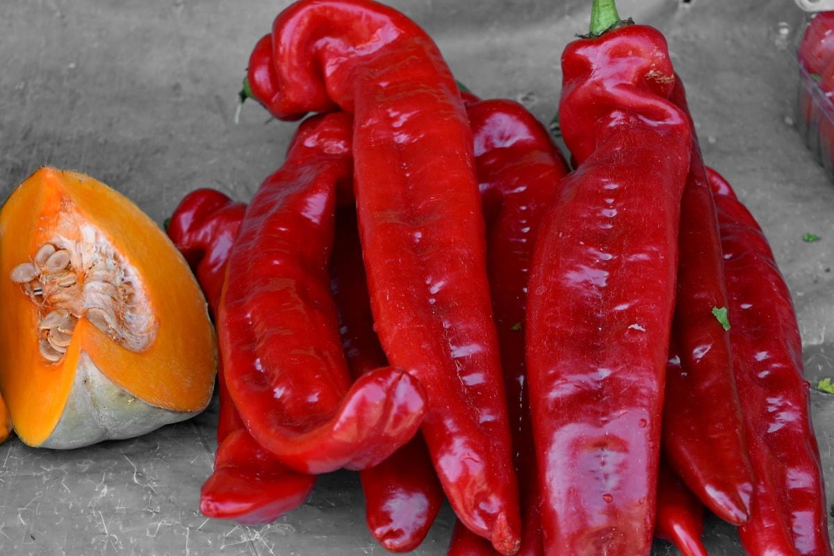 græskar, græskar frø, peber, vegetabilsk, mad, krydderi, marked, madlavning