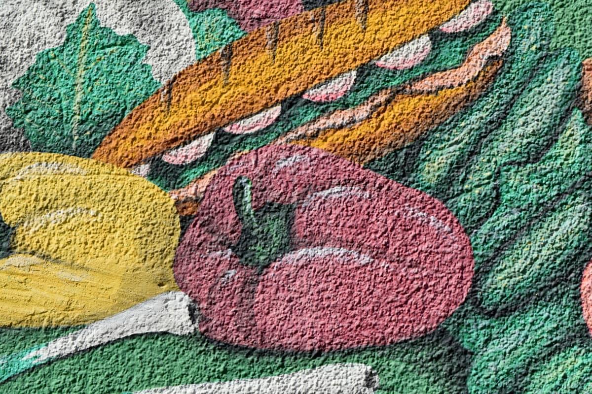 сладкий перец, Граффити, овощной, Текстура, шаблон, ткань, ручной работы, Дизайн