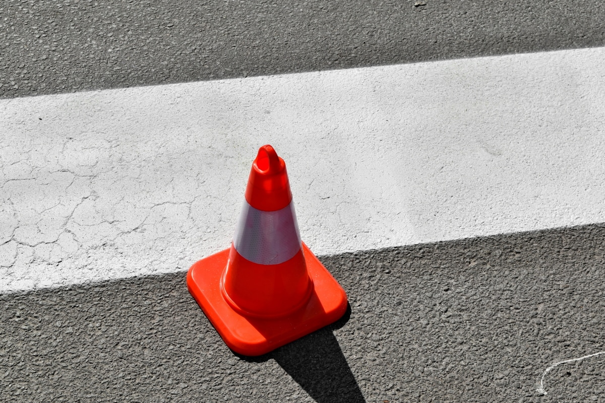kontrola prometa, asfalt, ulica, ceste, kolnika, promet, beton, prazan