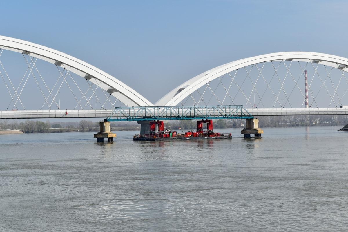 мост, вода, структура, река, град, архитектура, на открито, сграда
