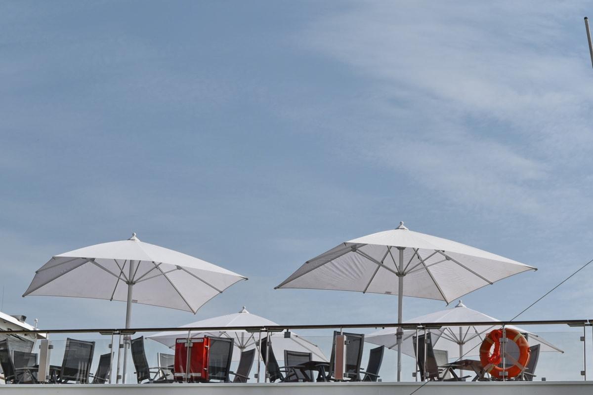brod za krstarenje, putovanja, kišobran, voda, na otvorenom, slobodno vrijeme, rekreacija, odmor