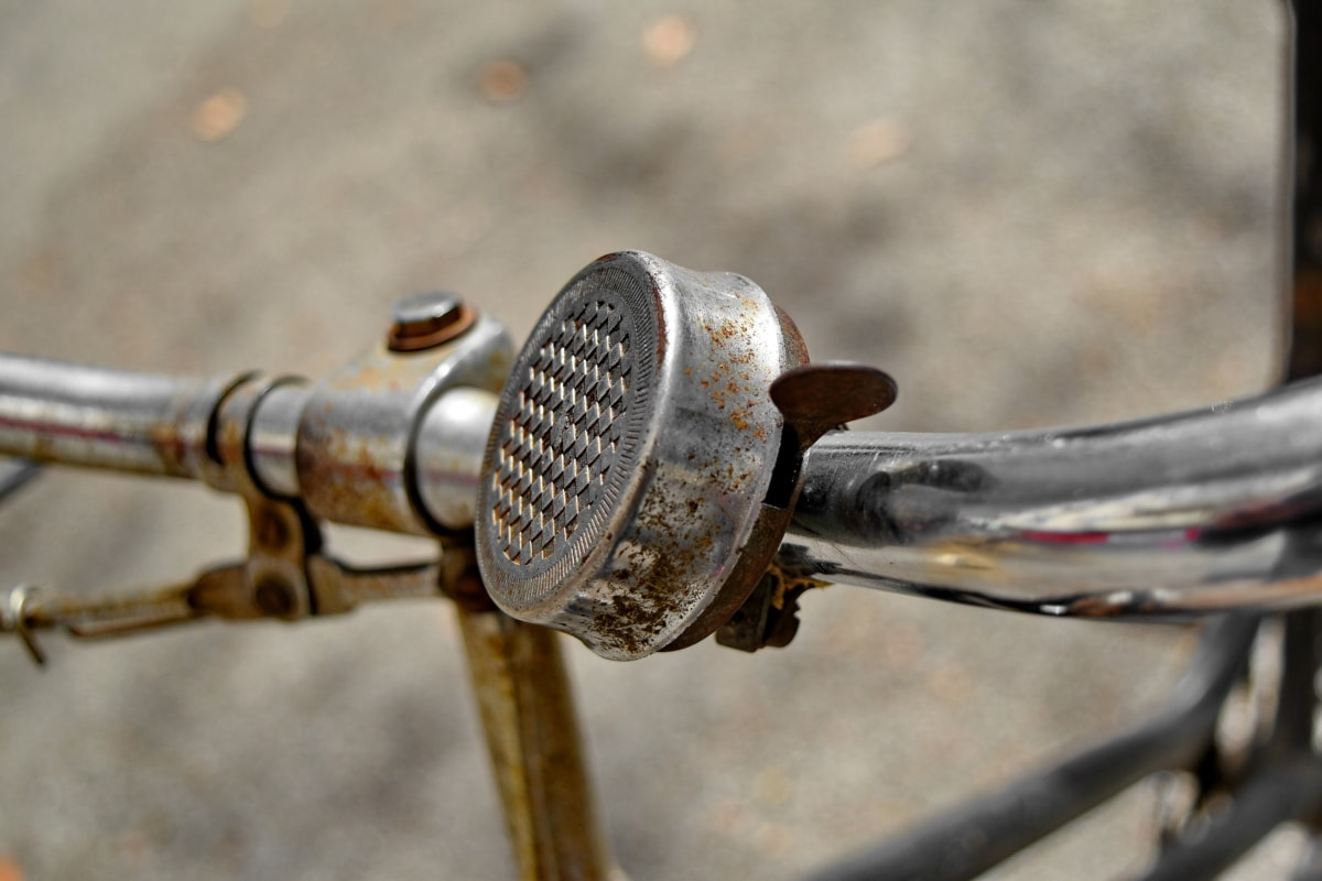 cloche, vélo, fer de fonte, chrome, Metal, métalliques, nostalgie, vieux