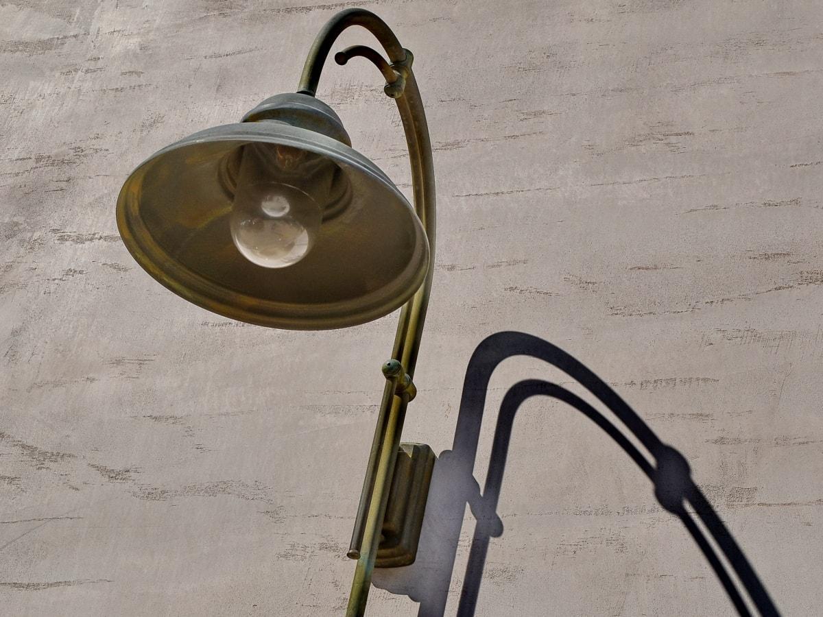 mesing, električne energije, Lampa, žarulja, oprema, stari, ulica, berba