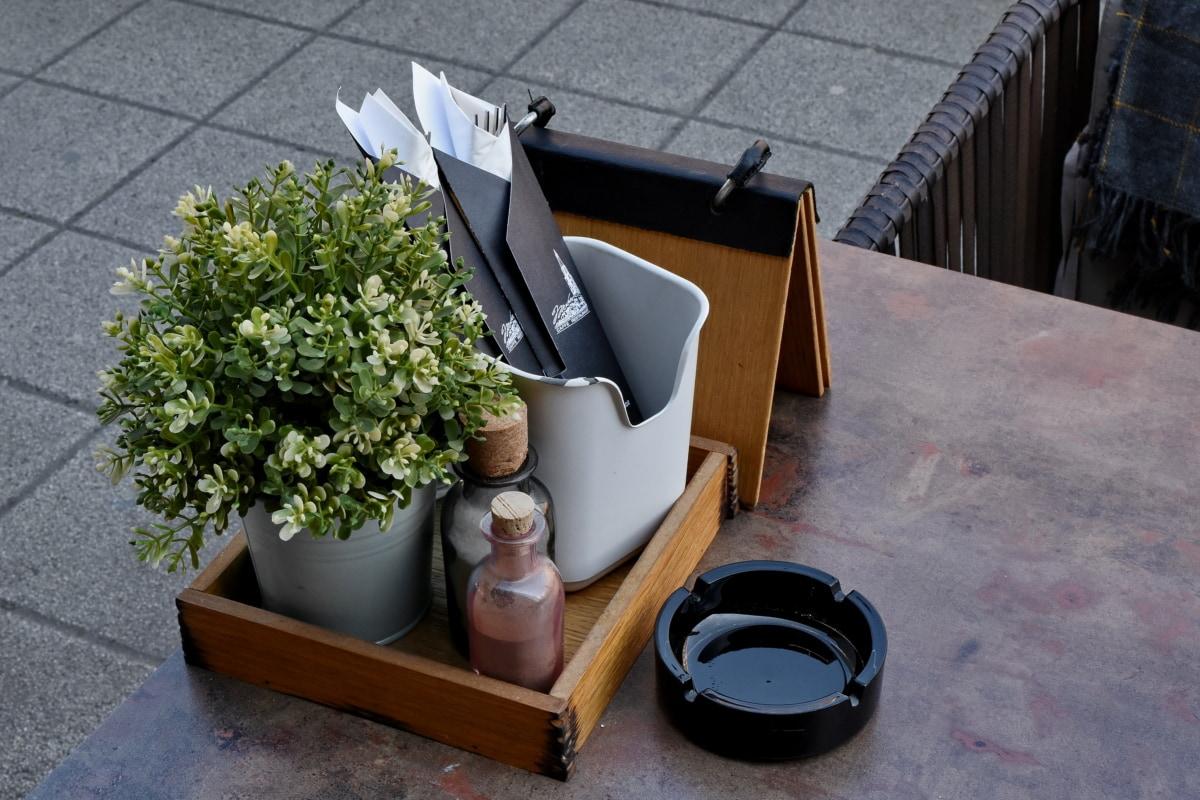 Пепельницы, бутылки, украшения, объект, Ресторан, дерево, сиденья, Таблица