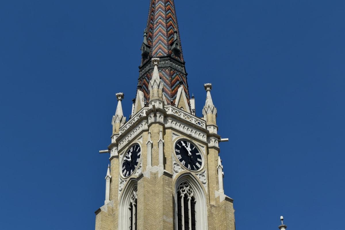 Църквата кула, Готически, забележителност, Сърбия, туристическа атракция, покриващи, катедрала, църква