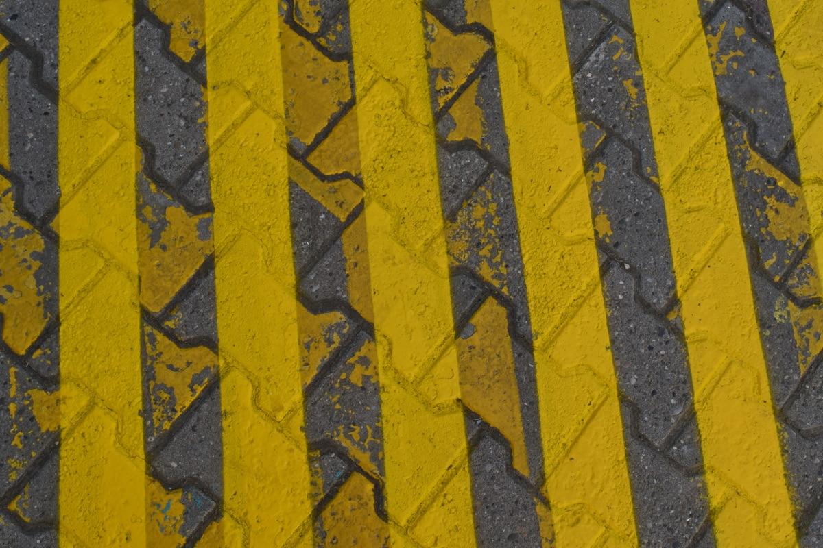 アスファルト, 黄色, テクスチャ, パターン, 古い, デザイン, 都市, 汚い