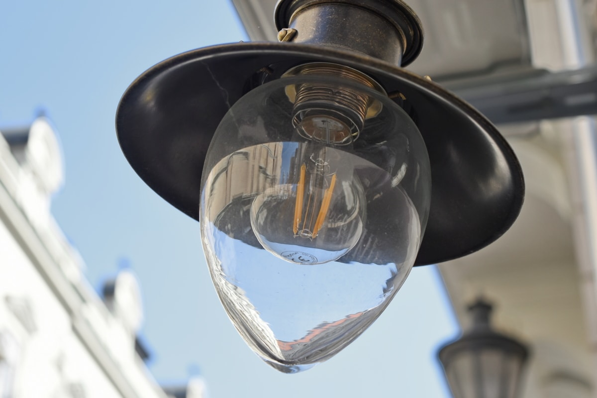 lamp, outdoors, indoors, old, light, technology, steel, street