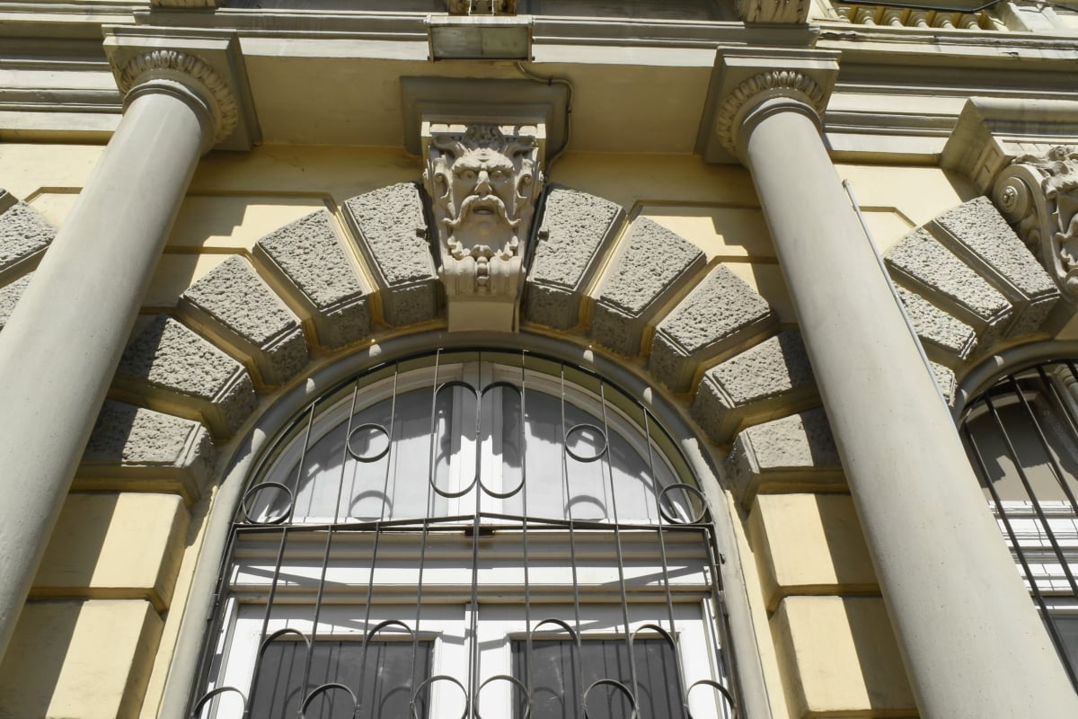 arch, cast iron, facade, sculpture, window, architecture, building, city