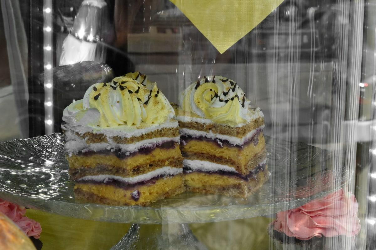 dessert, butikk, mat, søt, kake, sukker, deilig, feiring