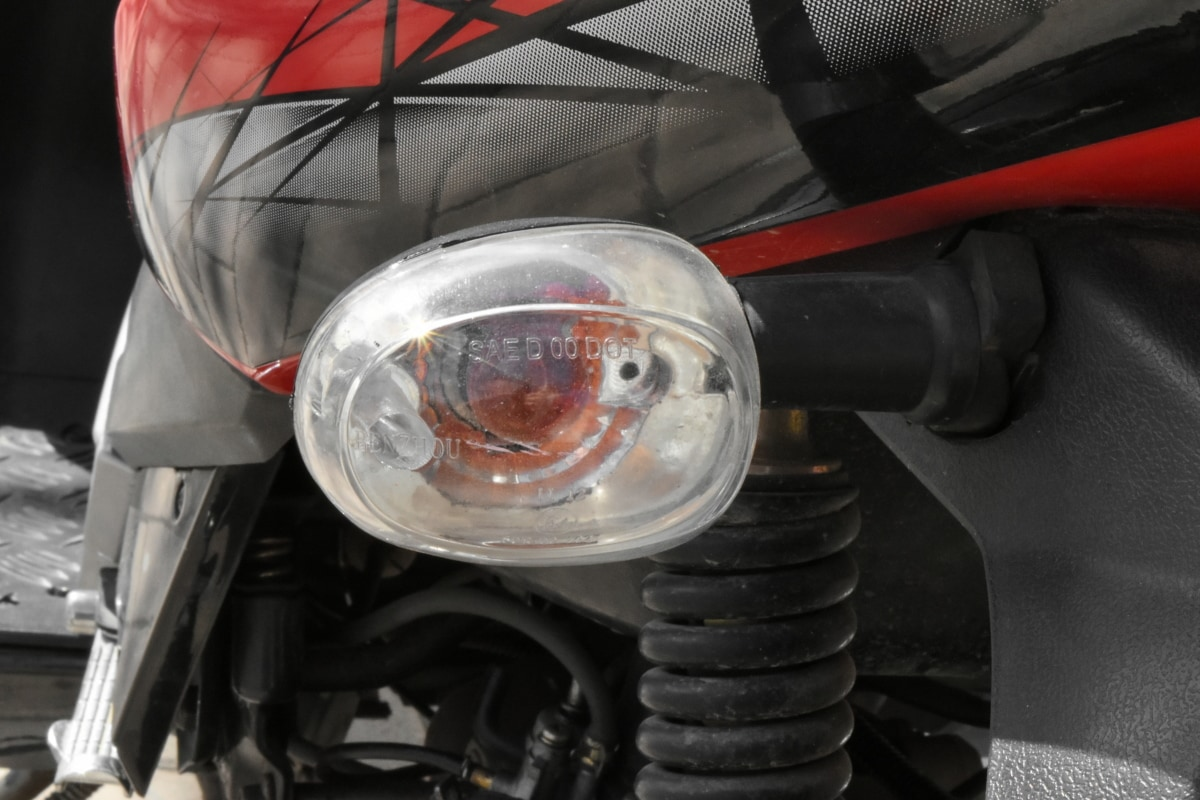 light bulb, motorcycle, signal, vehicle, diesel, garage, engine, industry
