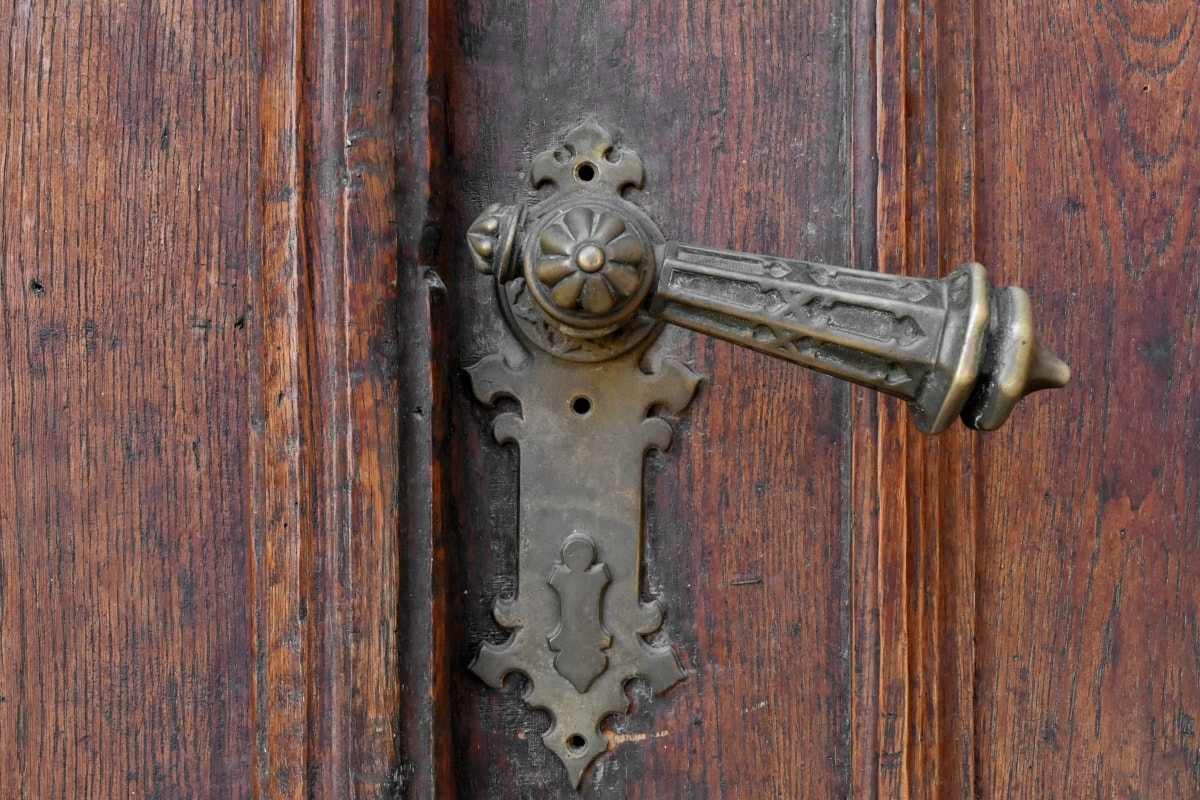 entrance, front door, lock, wooden, old, door, wood, security