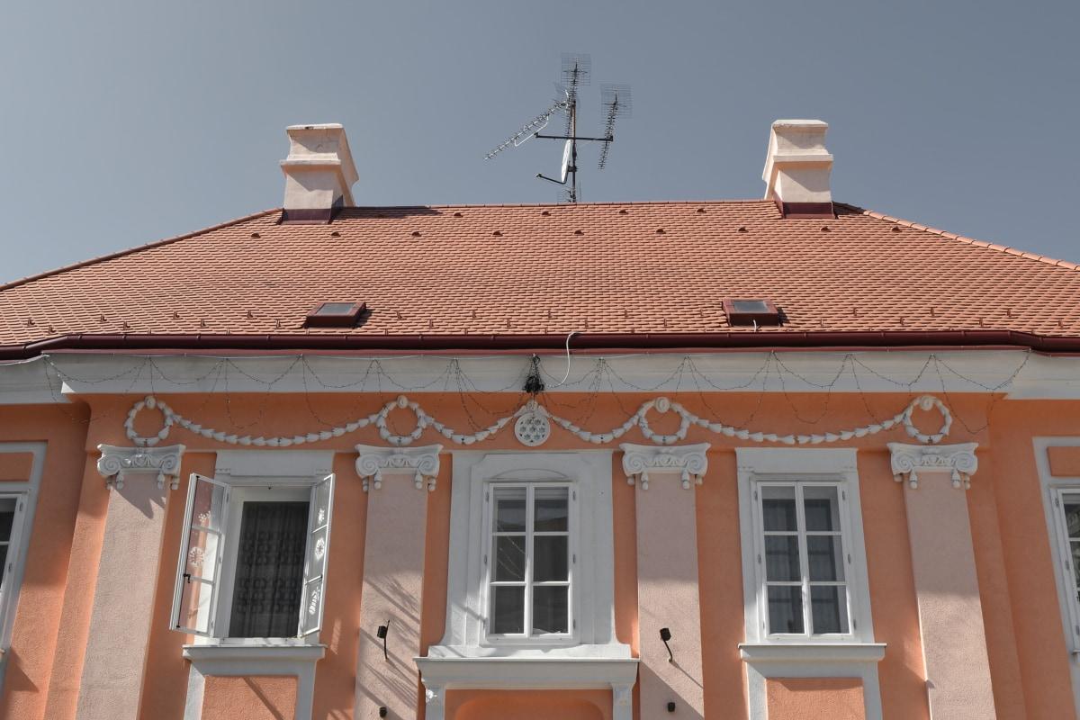 arkitektur, taktekking, taket, huset, materiale, vinduet, bygge, hjem