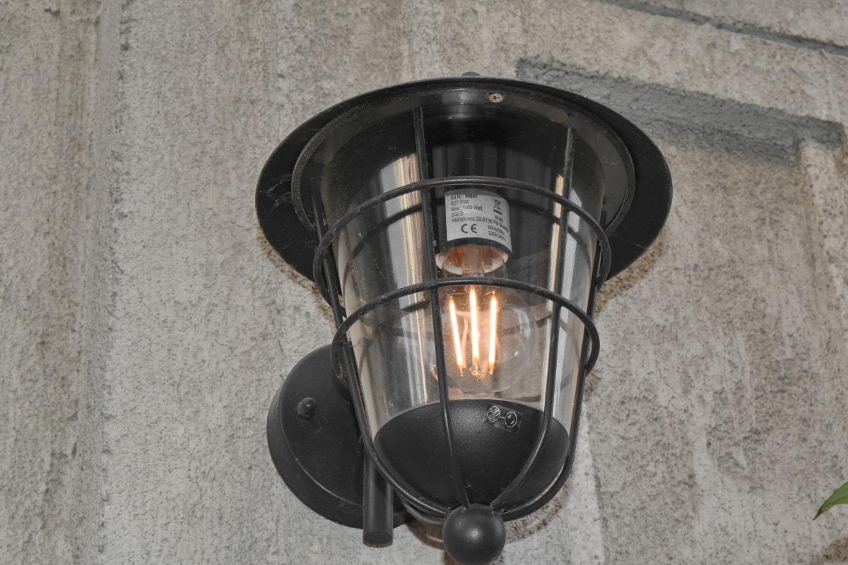 concreto, eletricidade, iluminação, lâmpada de iluminação, dispositivo, lâmpada, lanterna, luz