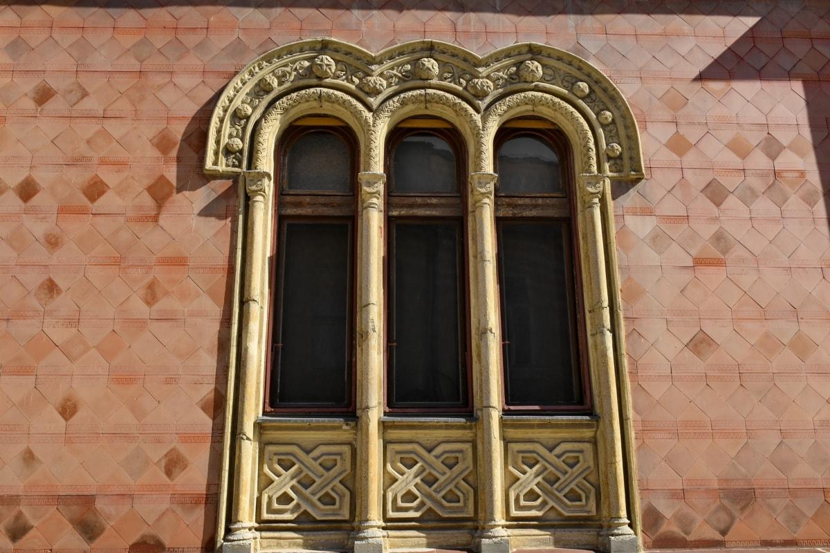 arabesque, arch, heritage, windows, architecture, facade, building, old