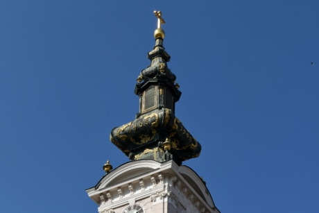 church tower, handmade, structure, architecture, outdoors, city, old, ancient