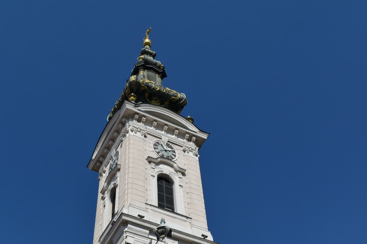 baroque, church tower, church, architecture, tower, building, outdoors, city