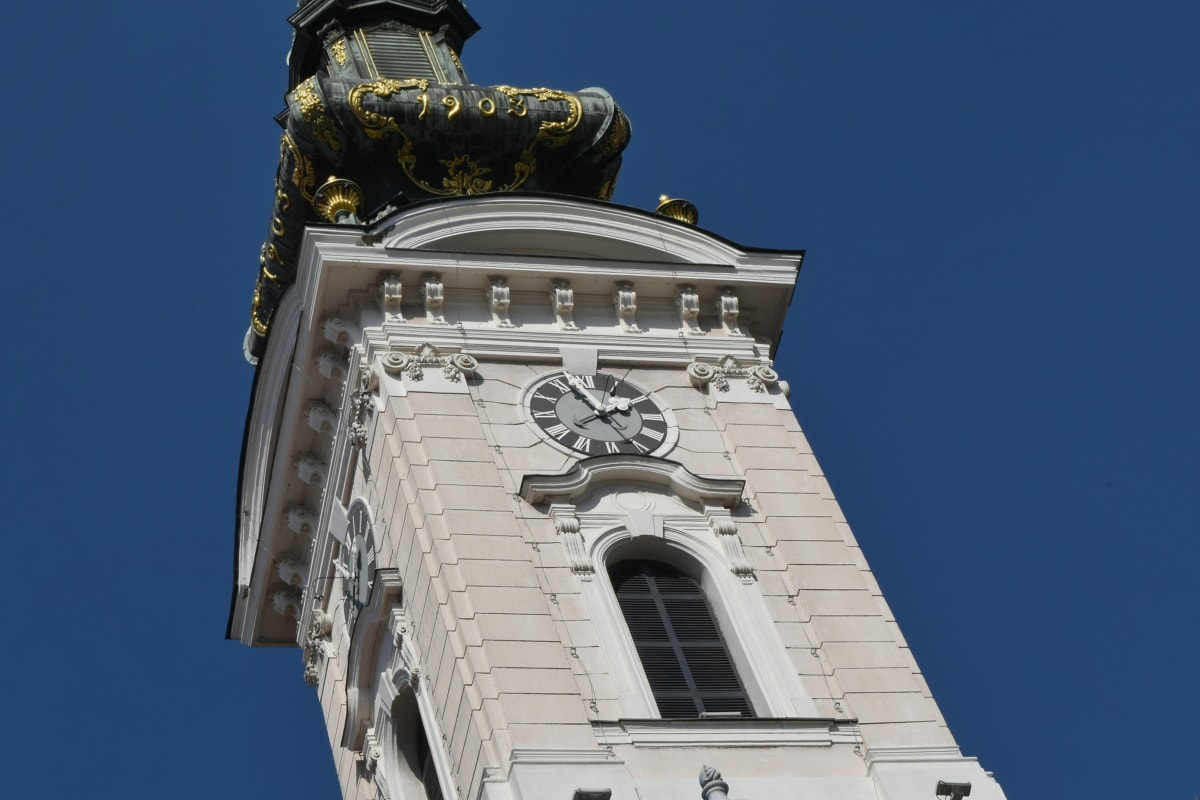 architectural style, church tower, facade, religion, building, tower, cathedral, church