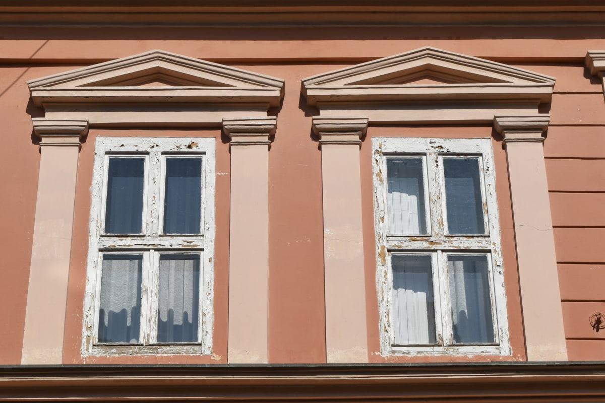 hus, fönster, Hem, fasad, arkitektur, Skapa, väggen, gamla