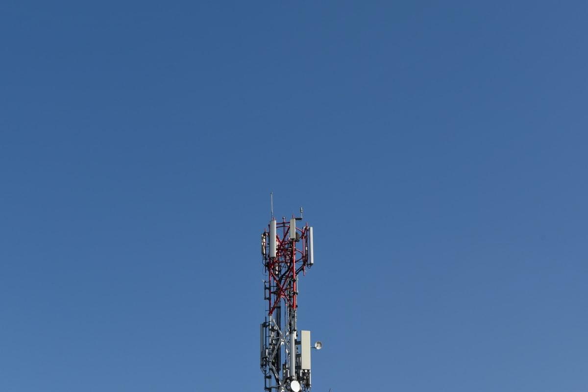 antenna, antenna radio, ricevitore radio, costruzione, settore, alta, tecnologia, televisione