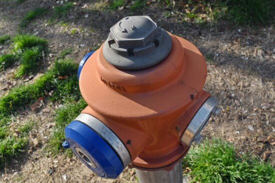 alloy, cast iron, detail, hydrant, outdoors, grass, nature, equipment