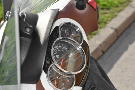 motorcycle, speedometer, steering wheel, control, mechanism, vehicle, outdoors, technology