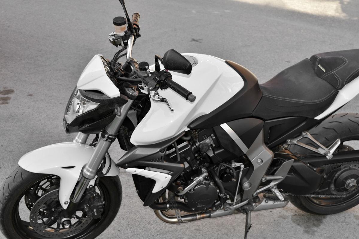 asphalt, vehicle, seat, motor, bike, motorcycle, device, motorbike