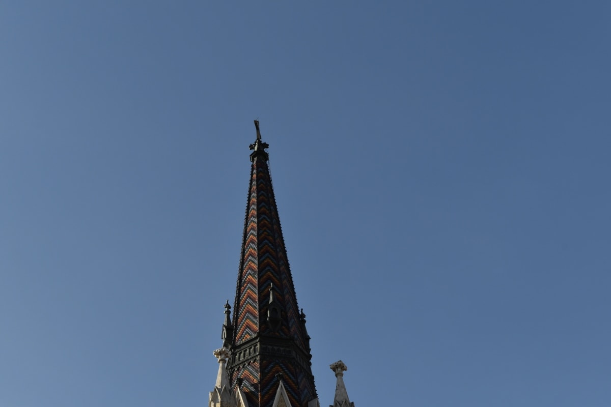 church tower, cross, architecture, building, tower, landmark, church, religion