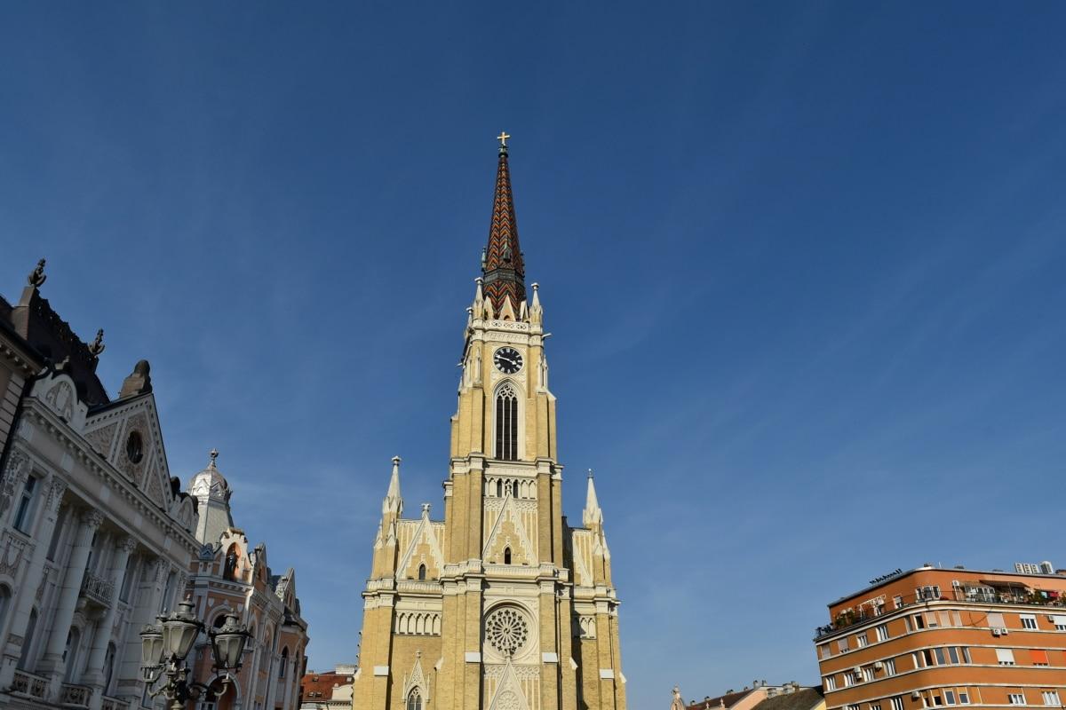 centrum, turistickou atrakciou, katedrála, pamiatka, Architektúra, veža, náboženstvo, kostol