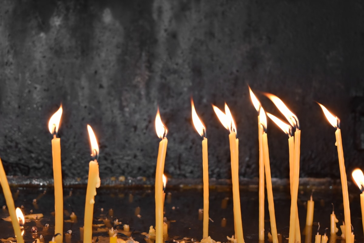 seremoni, kristendom, åndelighet, stearinlys, levende lys, flamme, feiring, brann